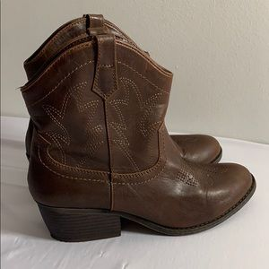 Brown Booties New Without Tags